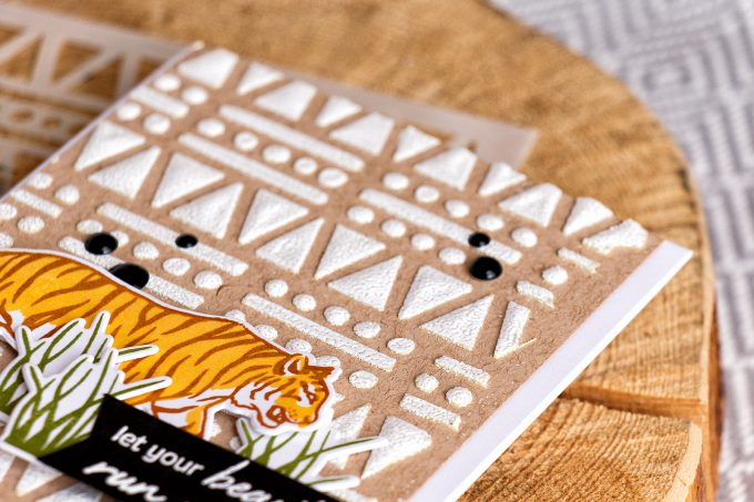 Hero Arts | Let Your Beauty Run Wild card by Yana Smakula. Using Color Layering Tiger stamp set