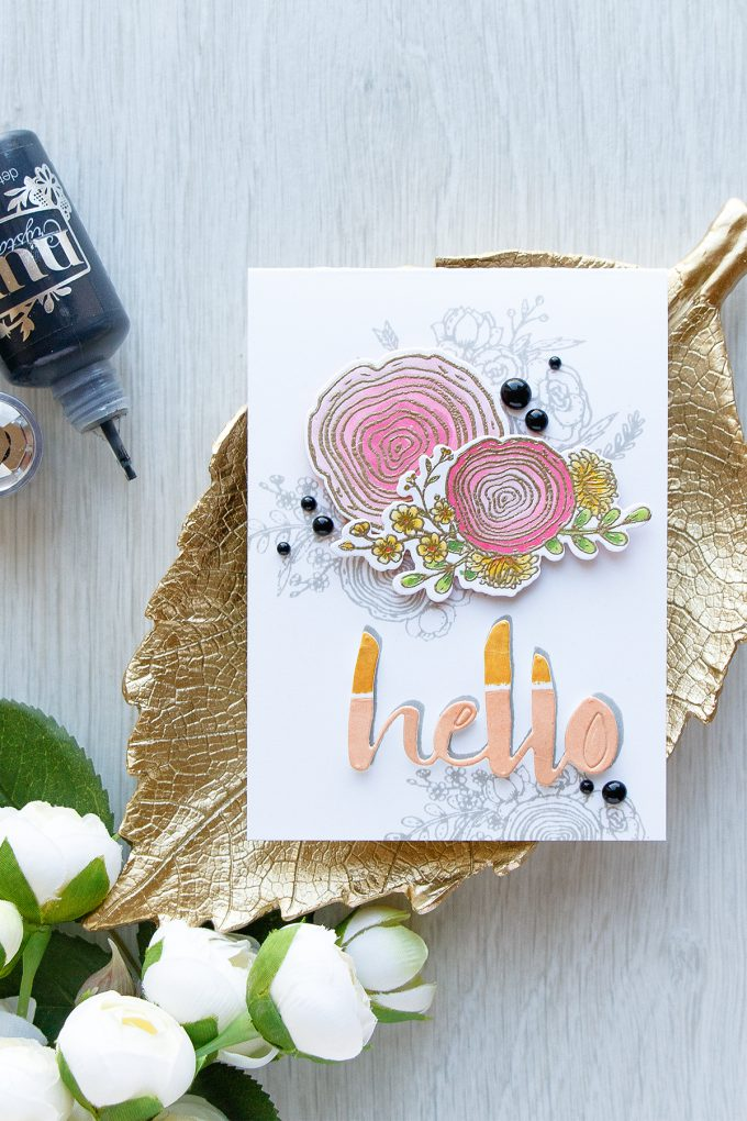 Honey Bee | Floral Hello Card