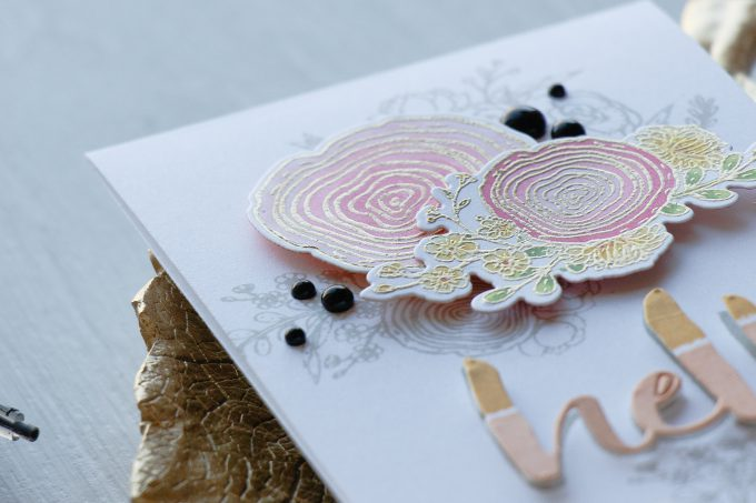 Honey Bee   Floral Hello Card