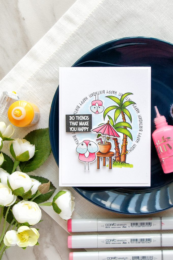 Simon Says Stamp | Tropical Birthday Card - Do Things That Make You Happy