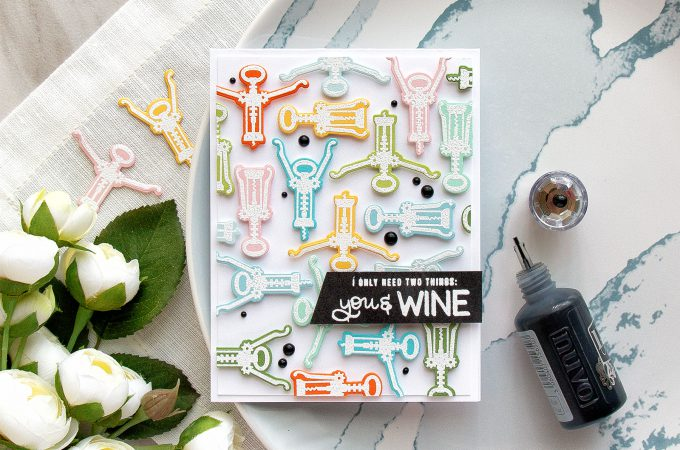 Simon Says Stamp | I Only Need Two Things: You & Wine Card by Yana Smakula