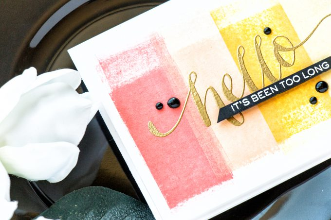 Simon Says Stamp | Quick Ombre Backgrounds using a Brayer. Video