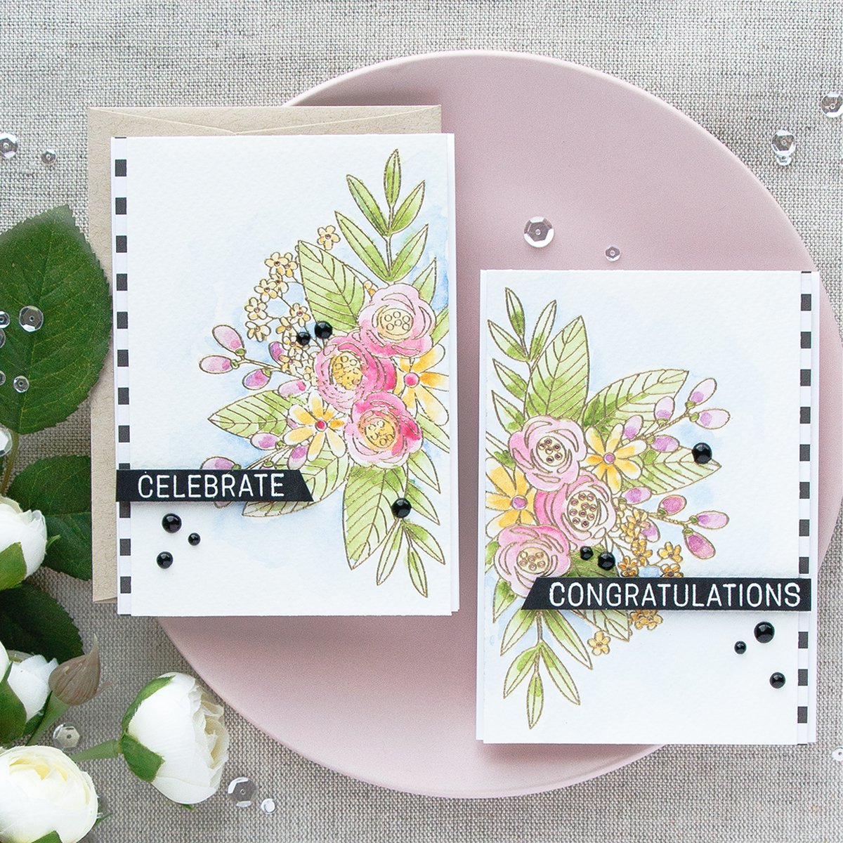 June 2017 Card Kit – Floral Watercolor