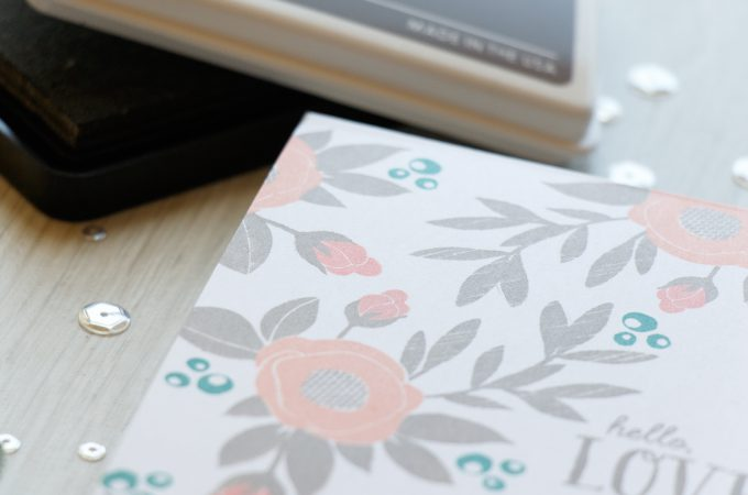 WPlus9 | One Layer Spring Blooms Card. Video