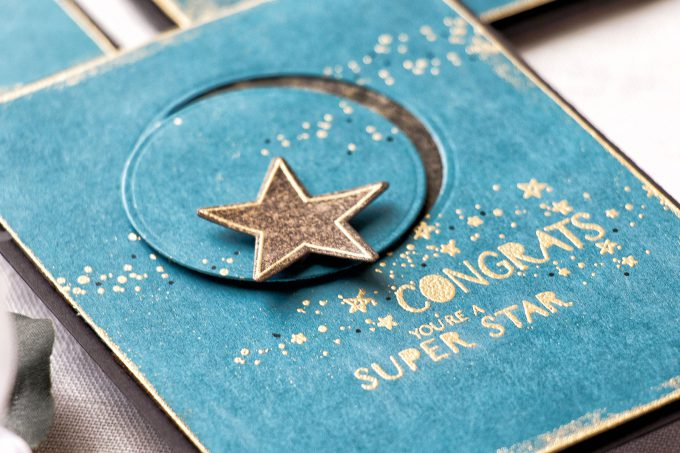 WPlus9 | Heat Embossed Stardust Cards 3 Ways