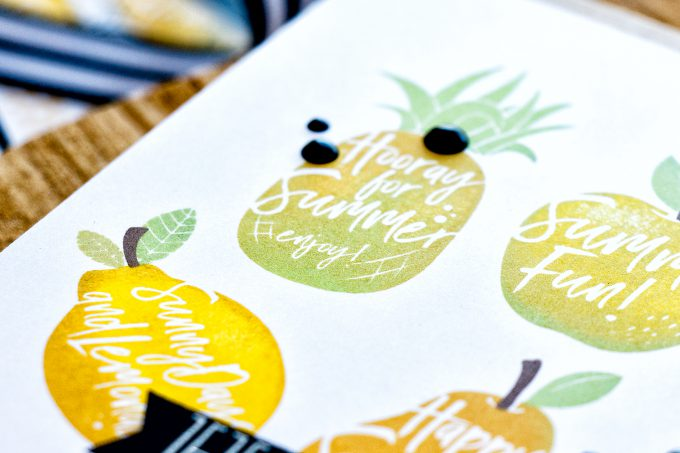 Simon Says Stamp   Multicolor Stamping using Solid Images. Video Tutorial - Dancing Fruit cards by Yana Smakula