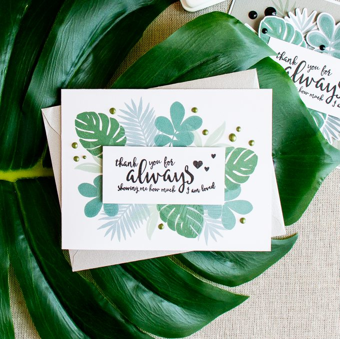 Simon Says Stamp | Tropical Foliage Card