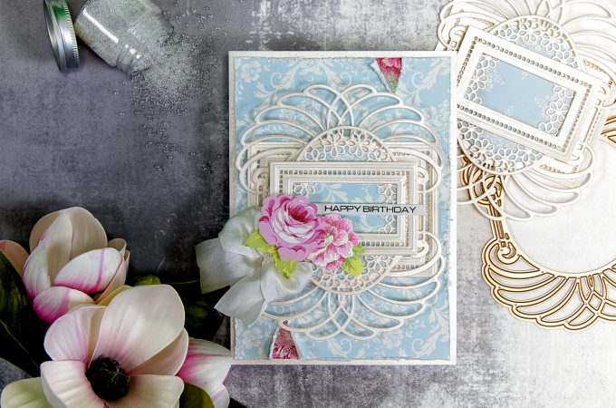 Spellbinders | Layered Dimensional Die Cutting Series. Episode #1 - Birthday Card featuring Venise Lace collection