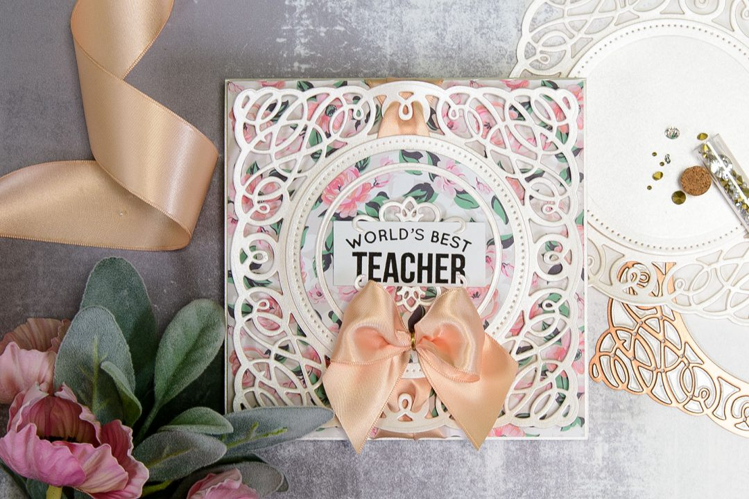 Spellbinders | Layered Dimensional Die Cutting. Episode #2 - Teacher Card