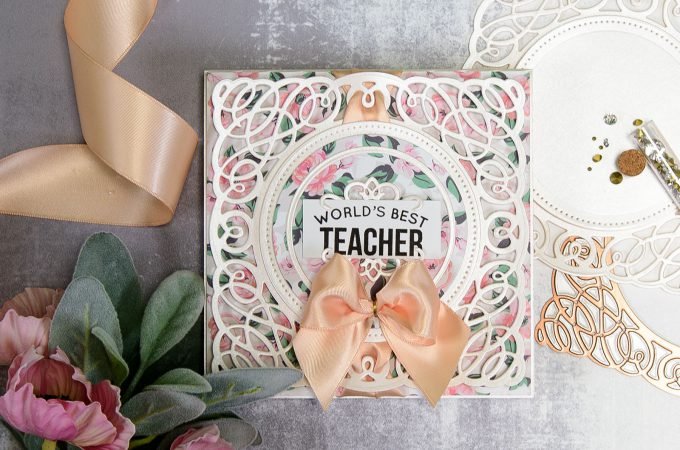 Spellbinders | Layered Dimensional Die Cutting. Episode #2 - Teacher Card