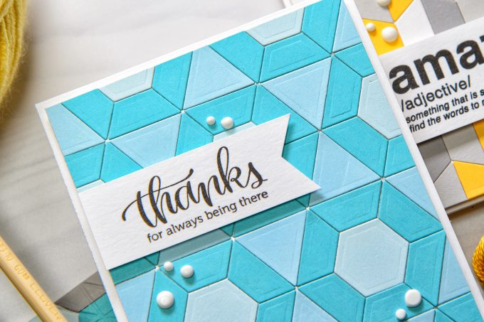 Spellbinders | Quilt It Collection - Thanks for Always Being There. Using ems Quilt Dies S3-285. Project by Yana Smakula