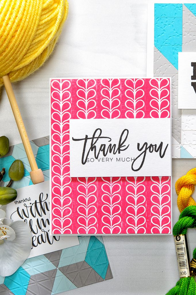 Spellbinders | Quilt It Collection - Thanks You So Very Much. Using Stitched Borders Dies. Project by Yana Smakula