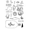 Flora and Fauna Mermaid Kisses Clear Stamp Set