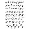 Hero Arts Clear Stamp Brushstroke Alphabet
