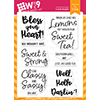WPlus9 Southern Sentiments Stamp Set