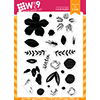 WPlus9 Southern Summer Florals 2 Stamp Set
