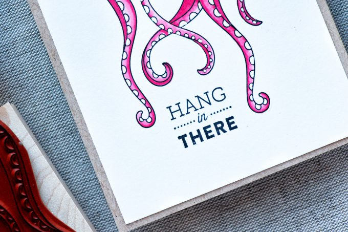 Hero Arts | Hang In There Tentacles Card