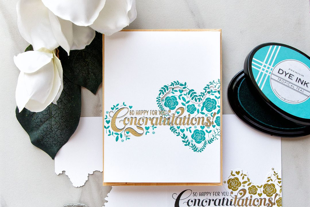 PTI | One Layer Stamped & Die Cut Wedding Congratulations Cards by Yana Smakula. Video Tutorial