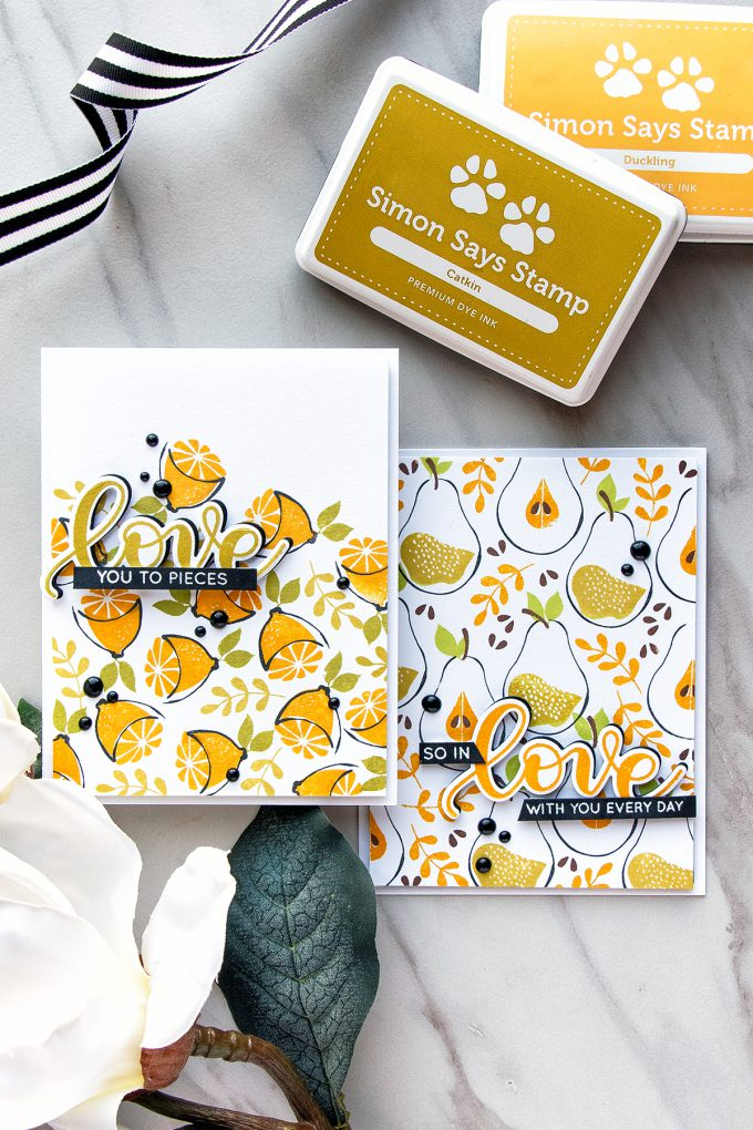 Simon Says Stamp | Artsy Fruit Patterns - Sweet Love You Cards