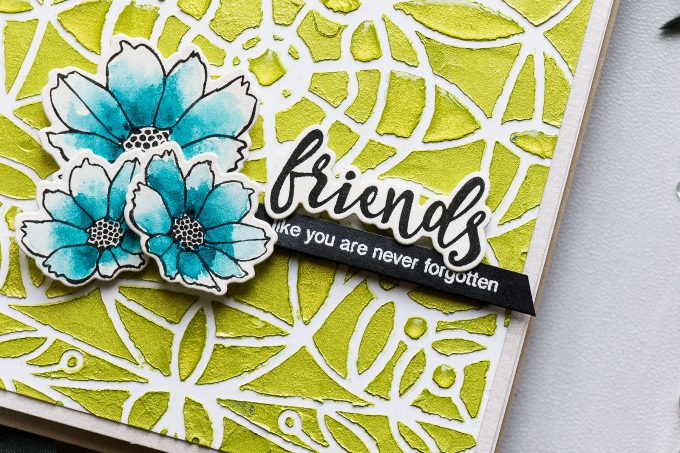 Simon Says Stamp | Friends Like You Are Never Forgotten - Nuvo Mousse Background