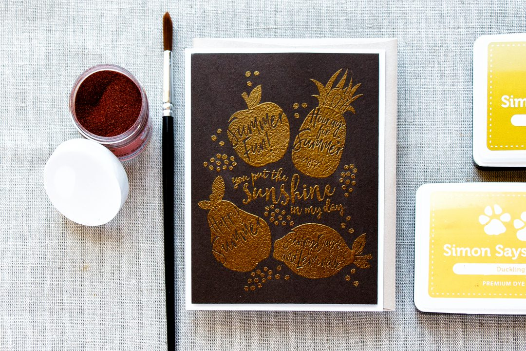 Simon Says Stamp | Heat Embossed Fruits