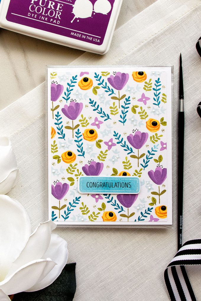 WPlus9 | Simple Stamped Floral Patterns with Southern Summer Florals