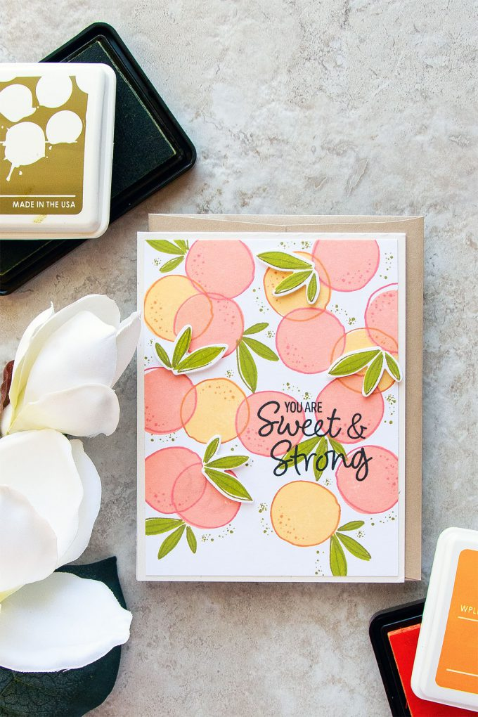 WPlus9 | You're Sweet & Strong Fruit Card using Summer Citrus stamps. Card by Yana Smakula