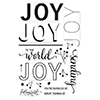 Hero Arts Clear Stamps Color Layering Joy Message