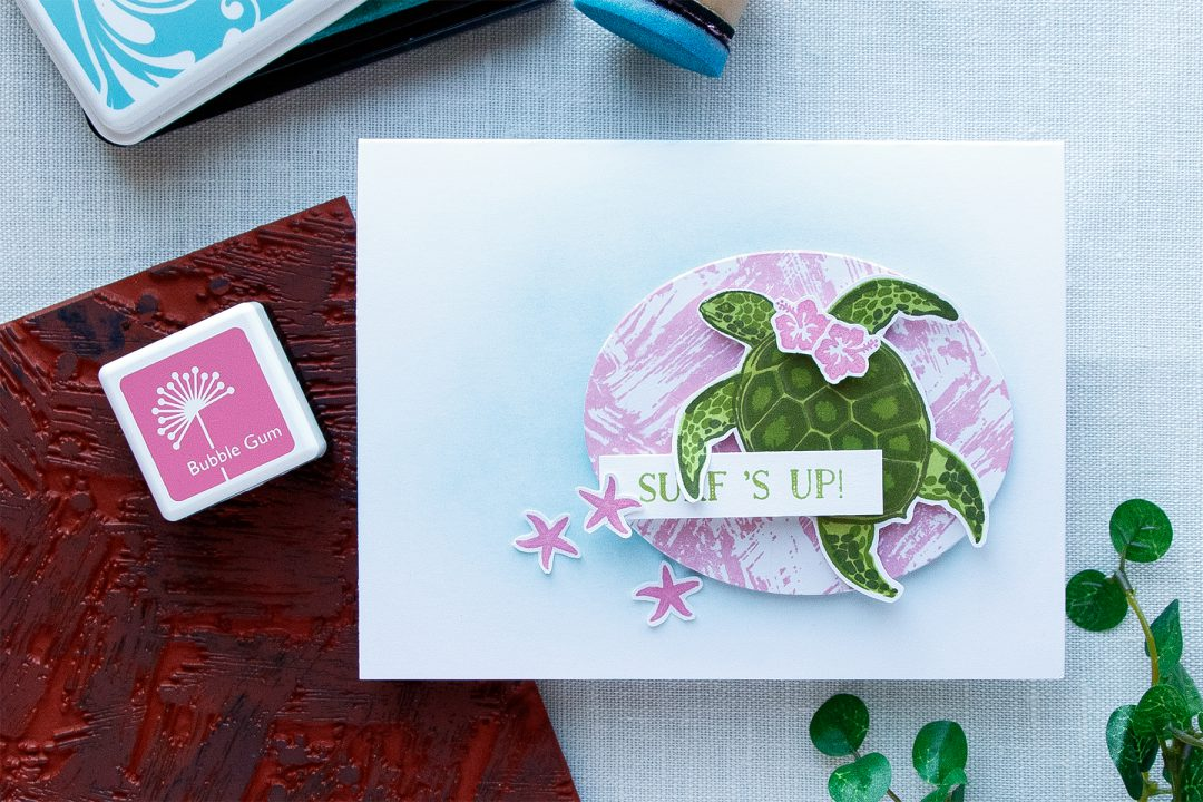 Hero Arts | Surf's Up Color Layering Turtle Card by Yana Smakula. Summer 2017