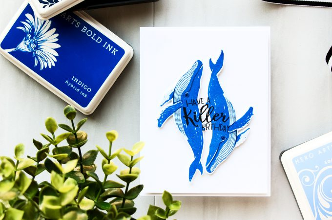 Hero Arts | Have A Killer Birthday Color Layering Whale Card by Yana Smakula