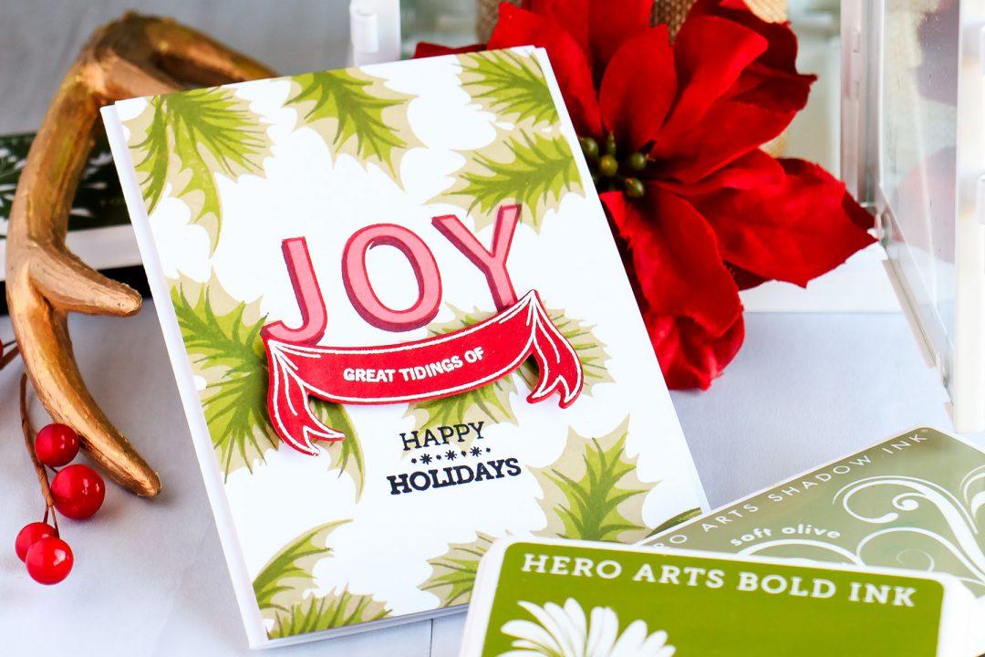 Hero Arts   Great Tidings Of Joy - Scrapbook & Cards Today