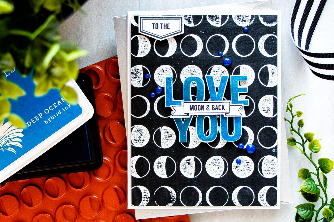 Hero Arts | Love You To The Moon & Back Card by Yana Smakula