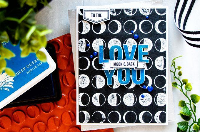 Hero Arts | Love You To The Moon & Back Card by Yana Smakula