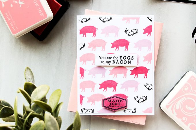 Hero Arts | You Are The Eggs To My Bacon Card by Yana Smakula