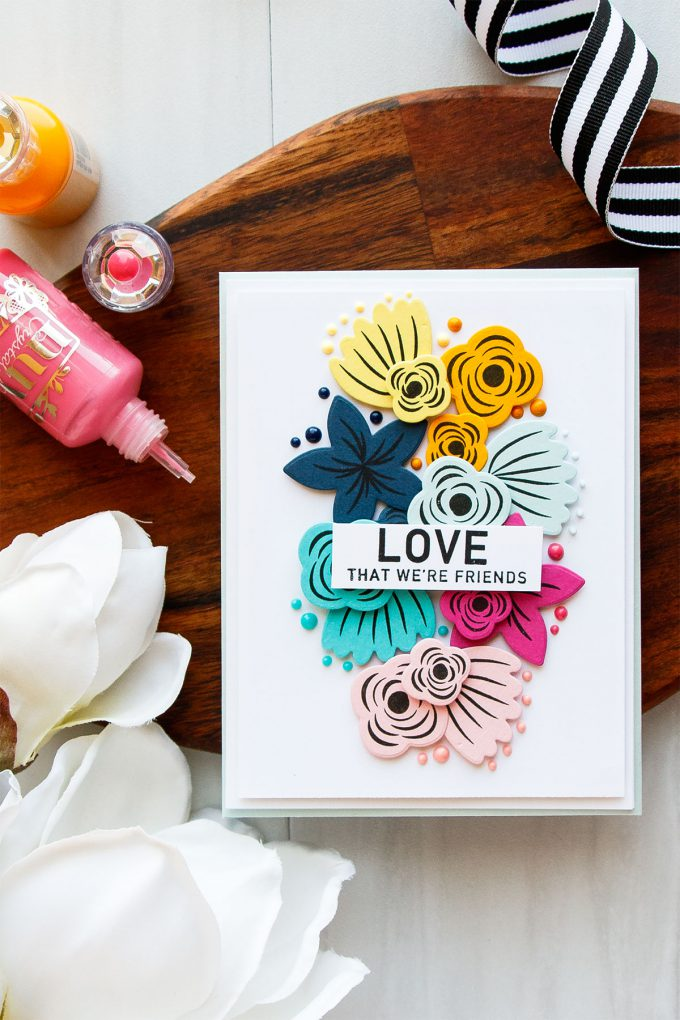 Simon Says Stamp | Colorful Circles Inspiration Turned Into Flowers using Hope Blooms Stamps
