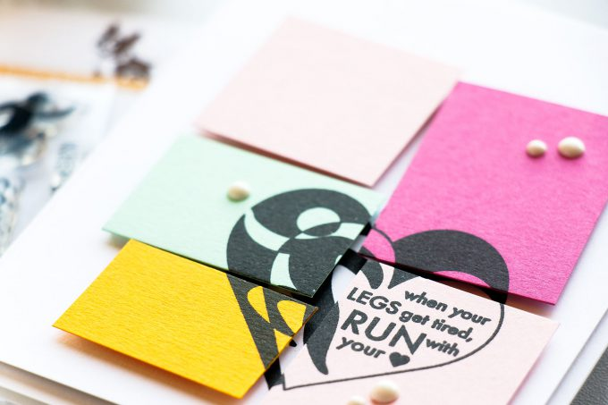 Simon Says Stamp | Run With Your Heart Colorblocked Card