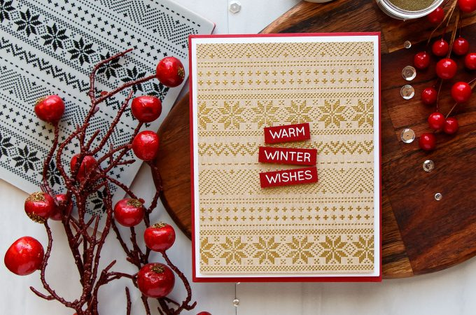 Simon Says Stamp | STAMPtember 2017 | Christmas Sweater Cards (or Faux Cross Stitch Embroidery). Handmade cards by Yana Smakula #simonsaysstamp #sss #stamptember #christmascard