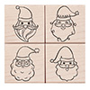 Hero Arts Rubber Stamp Santa Faces Set