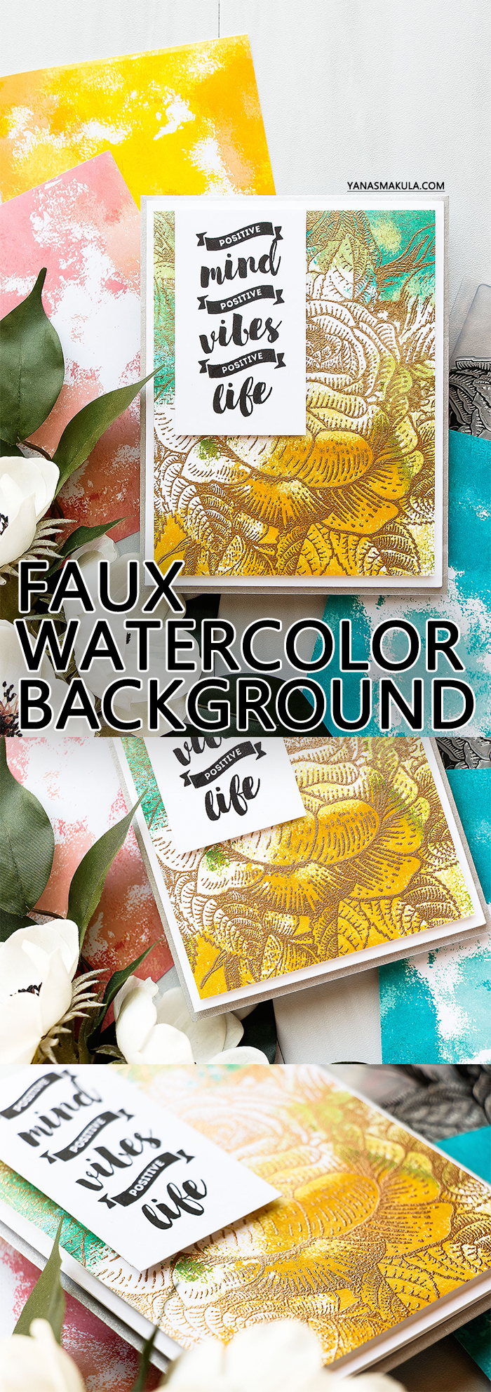 Brutus Monroe | Stamped Faux Watercolor Backgrounds by Yana Smakula