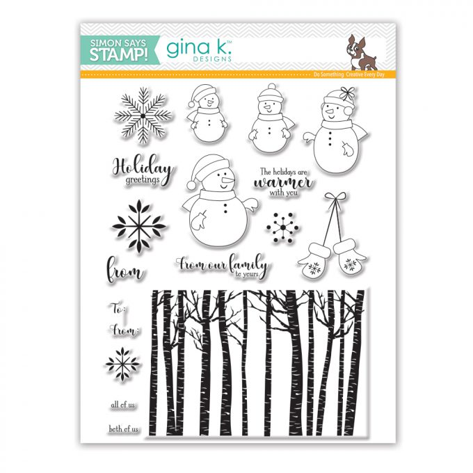 It's STAMPtember! | Gina K Exclusive - Warmer With You. From Our Family To Yours Snowman Card by Yana Smakula