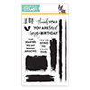 Simon Says Clear Stamps Brush Stroke Messages