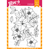 WPlus9 Christmas Rose Bouquet Stamp Set