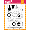 WPlus9 Holiday Trimmings Stamp Set