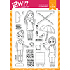WPlus9 The Crew School Days Stamp Set