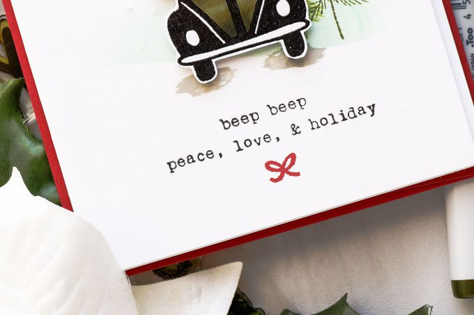 Flora & Fauna | Clean & Simple Driving To The Holidays Card by Yana Smakula