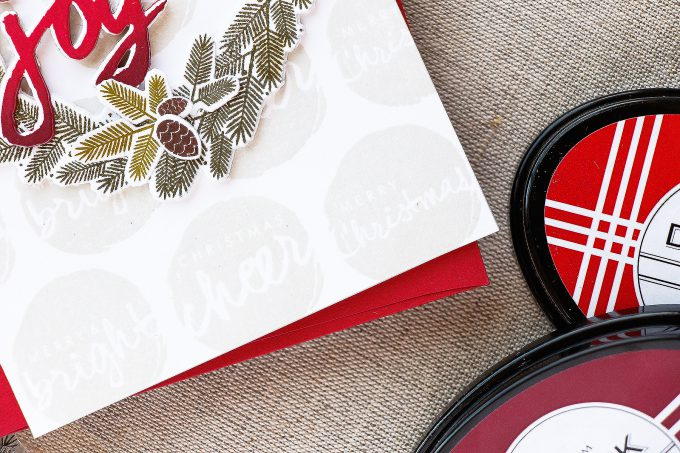PTI | Gradient Stamping - Christmas Wreath Card by Yana Smakula