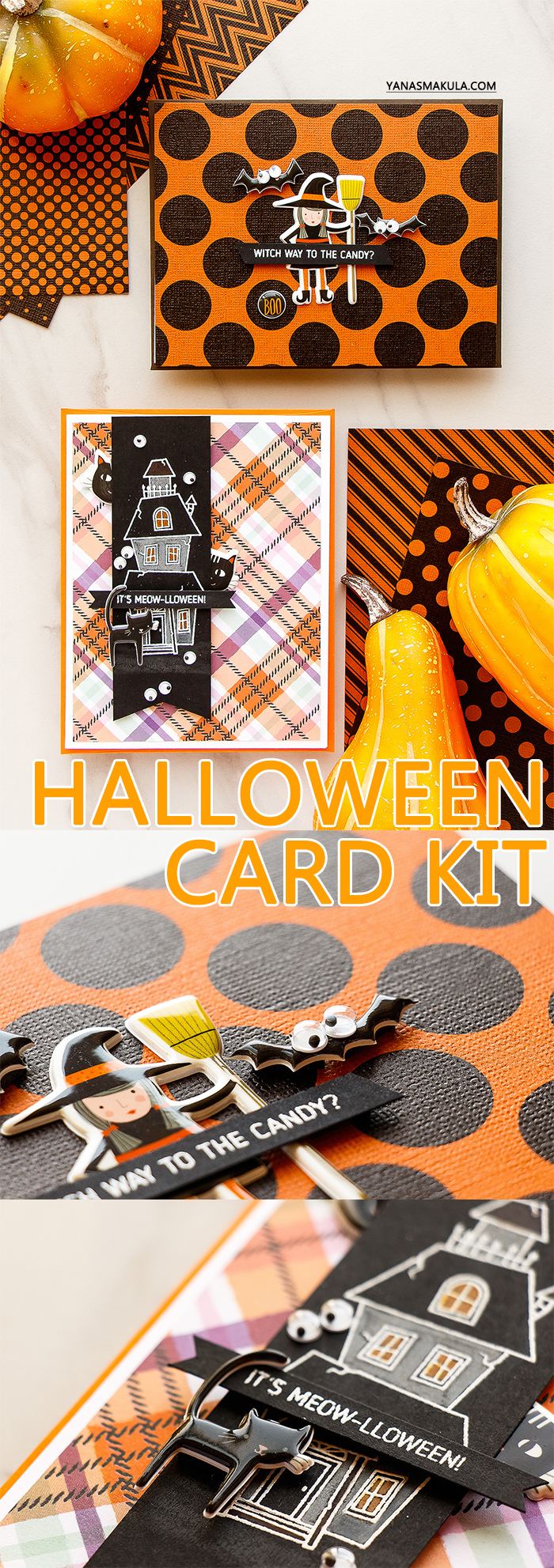 Simon Says Stamp | Limited Edition Halloween Card Kit. Silly and Spooky Halloween cards by Yana Smakula