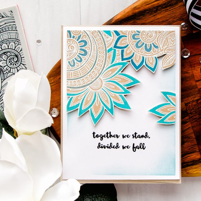 Simon Says Stamp | Ornate Background - Together We Stand Card by Yana Smakula