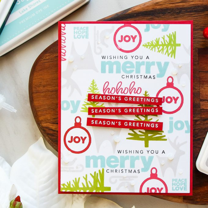 It's STAMPtember! | Cathy Z Exclusive – Coolest Yulest Season's Greetings Card by Yana Smakula for Simon Says Stamp