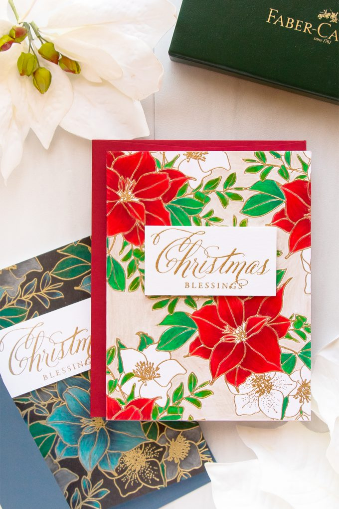 WPlus9 | September 2017 Release. Christmas Rose Bouquet. Christmas Blessings Card by Yana Smakula. Video